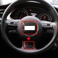 Car Audi Steering Wheel Carbon Fiber Cover Sticker Decoratio...