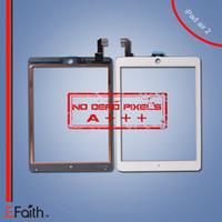 Pour Black iPad Air 2 écran tactile numériseur assemblage avec bouton d'accueil Remplacement Livraison gratuite