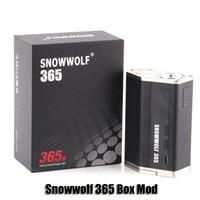 Authentique Snowwolf 365 Box Mod VW TC 365W 4 18650 Batterie Big Vapor Mod pour 510 Thread Atomizer