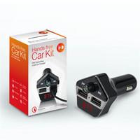 2017 nouveau kit de voiture Bluetooth ST06 de 3 in1 Audio MP3 Lecteur de musique Ensemble mains libres Ecran LCD Support Carte TF Transmetteur FM USB Chargeur de voiture