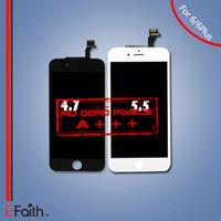 Pour noir Grade A +++ Écran LCD Touch Digitizer Écran complet avec cadre Full Assembly Remplacement pour iPhone 6 iphone 6 plus