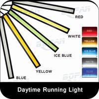 2Pcs Pair 17cm COB DRL LED Daytime Running Light Auto Lamp E...