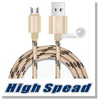 Premium Micro USB Chargeur Nylon Tressé Haute Vitesse USB Chargeur 3.3ft 1M pour Android Samsung Nexus HTC Motorola Nokia HUAWEI et plus