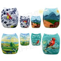 4 pieces lot Position Printing Diapers Naturally Rural Stype...