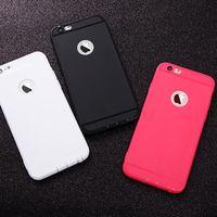 0. 6MM Ultrathin Matt Case for iPhone 5 5S SE 6 6S 7 plus wit...