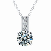 Zircon Necklace 2- color crystal optional Artificial Jewelry ...