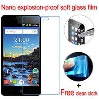 Grossiste-Jamais cassé Nano à l'épreuve des explosions Soft Glass Clear Screen Protector Film de protection Lcd pour ZTE Blade GF3 V580 V Plus