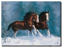 Животные White Horse, подлинный Pure расписанную Animal Art Картина маслом на холсте Толстые Мульти Размер C008
