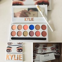 Kylie The Royal Peach Palette Kylie Kyshadow sombra de olho Kit 12 cores Sombra Bronze e Burgundy Palette DHL shipping