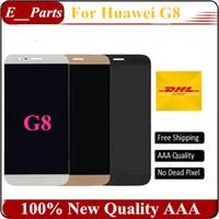 Original qualité AAA pour Huawei G8 écran LCD et écran tactile Digitizer Assemblée Remplacement pour Huawei G8 Cellphone Parts