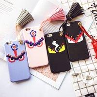 Étui souple en silicone avec cordon de luxe pour étui pour iphone 7 Étuis personnalisés pour iphone 6s Étuis de protection Creative Free Free