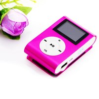 Wholesale- Metal Clip Digital MP3 Player LCD Screen for 2 4 ...