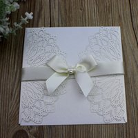 Laser Cut Wed Invitation Cards Butterfly Pearl Jewellery Wed...