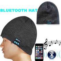 Grand cadeau de Noël Chapeau coloré de musique de Bluetooth doux chaud avec le haut-parleur stéréo de casque avec la boîte de détail