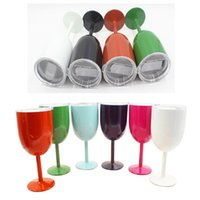 10oz Stainless Steel Wine Glass Double Wall Insulated Metal ...