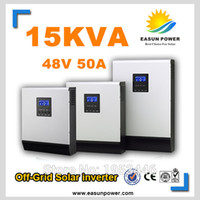 Горячее надувательство солнечного инвертора 15Kva 12KW солнечного с инвертора 48V сети к 220V 50A PWM Чисто инвертор синуса инвертора синуса гибридный 60A Заряжатель AC