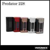 Authentique Wismec Predator 228 TC Mod Alimenté par une batterie double rechange 18650 avec 228W Max Output 100% Original