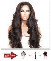 Free Full Lace Human Hair Wigs For Black Women Brazilian Vir...