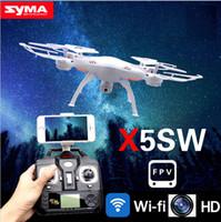Drones originales SYMA X5SW WIFI drone RC FPV hélicoptère Quadcopter avec caméra HD 2.4G 6 axes en temps réel hélicoptère RC jouets Livraison gratuite.