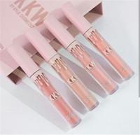 Nouvelle arrivée KYLIE KKW X collaboration Set of 4 Creme Liquid Lipsticks Pink Kimberly kim kiki kimmie collection Livraison gratuite DHL