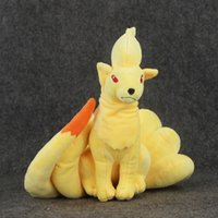New 22cm Poke Kyukon Plush Toy Fox Ninetales Plush Doll Toys...