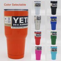 Красочные Yeti 12oz 20 унций 30oz Чашки Cooler YETI Rambler массажер Путешествие Автомобиль Пивная кружка двустенных Bilayer с вакуумной изоляцией высокого качества