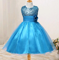Lovely Sequins Net Yarn Princess Dresses for Kids Size 3- 12 ...
