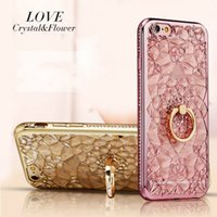 Phone Case Luxury Inlaid diamonds Two Color Lovely Dirt- resi...