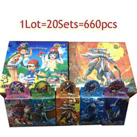 Poke Trading Card Jeux SunMoon Cards Édition anglaise Anime Pocket Monster Cards Toys 660 pcs Box Cadeaux d'anniversaire DHL