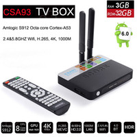 Amlogic S912 3 GB RAM 32 GB ROM CSA93 Octa Core Android 6.0 Smart TV Box Mini PC 4K H.265 Media Player 2.4G / 5G Wi-Fi 1000M LAN VS S905X I8