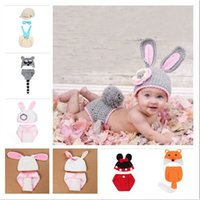 Grey Cute Rabbit Design Flowers Baby Hat + Shorts Suit Handm...