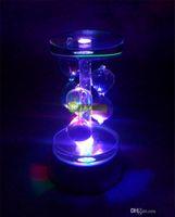 Magic Rotating Crystal LED Display 7LED Base Stand 360 Degre...