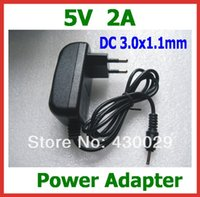 Wholesale- 5pcs Charger 5V 2A 3. 0x1. 1mm Power Adapter Supply...
