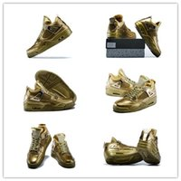 High Quality with original box retro 4 metallic gold Man bas...