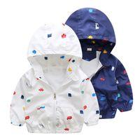 2017 New Spring & Summer Children jackets Car Pritned Hooded...