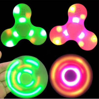 Led Bluetooth Music Fidget Cube Spinner Finger HandSpinner EDC Hand Tri Spinner HandSpinner EDC Toy Pour Decompression Jouets en plastique en stock