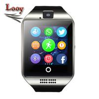 Smart Watch Q18 avec écran tactile appareil photo carte SIM TF carte Bluetooth smartwatch pour Android et IOS Téléphone