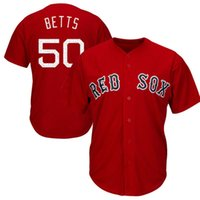 Hommes Boston Red Sox Mookie Betts Maillots de baseball 2017 Printemps de formation Cool Base Player broderie Logos Jersey