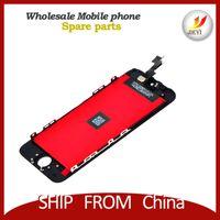 Grade AAA pour l'affichage d'écran d'iPhone 5S 5c Lcd avec l'assemblage complet de numériseur blanc et noir Livraison gratuite de DHL