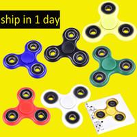 EDC Fidget Spinner jouet jouet rotatif à main Hand tri spinner HandSpinner EDC Toy pour décompression Anxiété Jouets avec boite à vin au détail dhl oth348