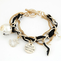 Pulseras Mujer 2017 Fashion Chain Charms bracelets & bangles...