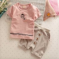 Good quality 2017 Summer Baby Girls Boys Clothes Sets Cotton...