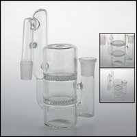 Recycler Cendrier 14mm 18mm 18.8mm 14.4mm avec nid d'abeille Cendrier en verre Dropdown