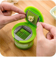 Hand Garlic Press Chopper Garlic Crusher Grinder Slicer Cutt...