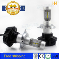 1 pair for Philips 160W 16000LM H4 LED Headlight Kit High Lo...