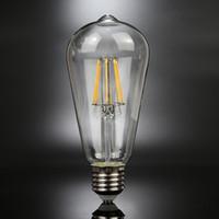 ST64 4 6 8W E27 110V 220V Dimmable 2700K Edison Style Vintag...