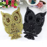 Owl Patches Large Fabric Sticker Affixed UP Cloth Handmade S...