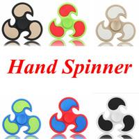 Dull Polaco HandSpinner Dedos de Espiral Gyro Torqbar Rueda caliente Fidget Spinner Fidgets Juguetes Descompresión Juguetes 6 Colores OOA1520