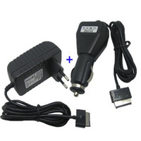 Wholesale- Car charger + AC EU adaptor power for Asus eee Pa...