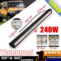 """42"""" Inch 240W Combo Spot Flood LED Light Bar for Work D..."""